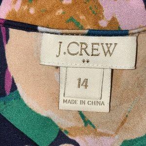 J. Crew Tops - J.CREW floral cap sleeve blouse